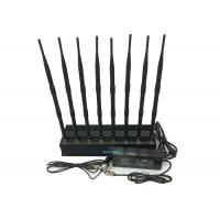 China High Power Cell Phone Signal Jammer , Cell Phone Blocker Jammer Eight Antennas on sale