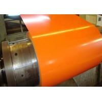 China Orange Pre Painted Galvanized Coils 0.18 - 0.2mm Thickness With Base Metal GI GL on sale