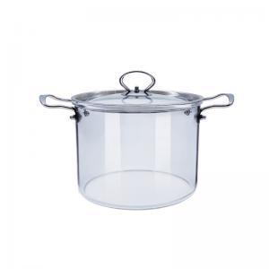 Wholesale 2.3L 3.5L Transparent Borosilicate Glass Soup Pot from china suppliers