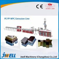 Wholesale Jwell fully automatic WPC plastic extrusion line for PE&PP from china suppliers