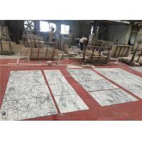 Bespoke 60x60cm Size Natural Stone White Marble Floor Bevel Tiles