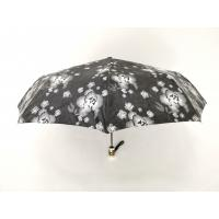 Buy cheap Waterproof Fabric 9 Panels Auto Open Close Umbrella In Black Color With Printed from wholesalers