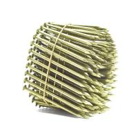 Wholesale Yellow Coated Galvanized Coil Nails Q235 Material For Wood Pallet 15 Degree from china suppliers