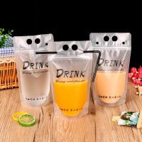 Wholesale Drinking Fruit Juice Packing Plastic Standing Pouch With Straw from china suppliers
