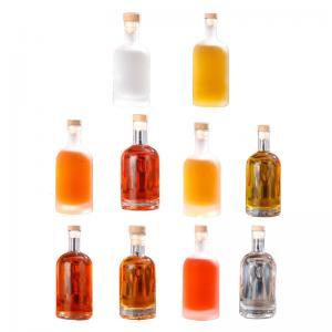 Wholesale Transparent Frosted Beverage Juice Wine bottle Whisky Vodka Spirit Liquor Glass Bottle from china suppliers