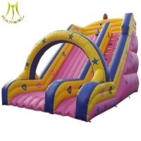 Wholesale Hansel fair attractions children air castle jumping outdoor slide inflatable slide from china suppliers