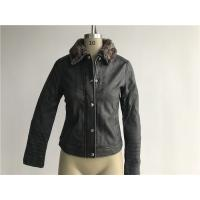 Levis Ladies' Charcoal Pleather Jacket With Detachable Sherpa Collar LEDO1741