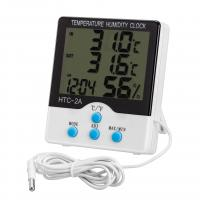 Wholesale Indoor / Outdoor Digital Hygro Thermometer With Clock And External Sensor from china suppliers