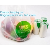 Wholesale Cassava Biodegradable Food Storage Fruits Fresh Bags, Quart Size, Gallon Size, Food Storage Bags, Freezer Bags On Roll from china suppliers