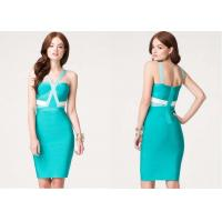 Wholesale Colorblock Crisscross Womens Club Dresses Sculptural Bandage from china suppliers