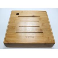 Wholesale Custom Square Gift Packaging Bamboo Display Box, Wooden Tea Storage Box With 4 Compartments And Lids from china suppliers