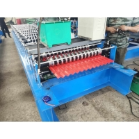 China Colour Steel Material 1.0mm Corrugated Sheet Roll Forming Machine on sale