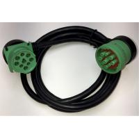 Right Angle Green Deutsch 9 Pin J1939 Female to Right Angle J1939 Male Cable