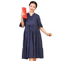 Wholesale Custom Long Cotton Summer Dresses O Neck With Knee - Length Dresses Length from china suppliers