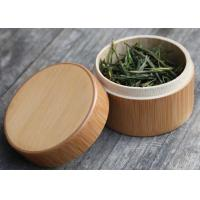Wholesale Round Birch Bark Balsa Box Natural Wood Color , Wooden Tea Bag Gift Box from china suppliers