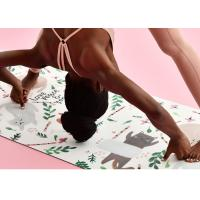 Buy cheap Eco Friendly Printing PU Yoga Mat , Non Slippery Natural Rubber Yoga Mat from wholesalers