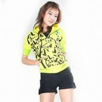 Wholesale Short Sleeved CVC Fleece Hoodie from china suppliers