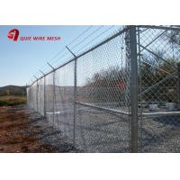 Buy cheap 9 Gauge Zinc / Aluminum / Polymer Coated Chain Link Tennis Court Fence from wholesalers