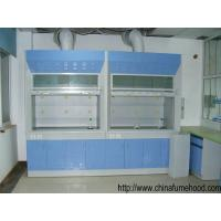 China Laboratory Steel Fume Hood , Lab Fume Cupboard With PP Sink / Water Faucet on sale