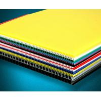 China Recyclable Coloured Corrugated Plastic Sheets Board for printing on sale