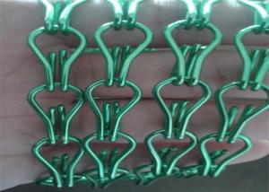 Wholesale 1.6Mm Wire Diameter Black Green Color Aluminum Double Hook Chain Curtain from china suppliers