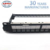 Quality ANSHI Unloaded Rack Mount Patch Panel 24 Ports STP Shielded Toolless for sale