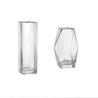Wholesale Polished Tabletop Rectangular Decorative Glass Vases With Phnom Penh Tall from china suppliers