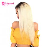 Buy cheap 1B 613 Ombre Blonde Human Hair Lace Front Wigs Bleached Knots Swiss Lace from wholesalers