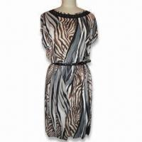 Wholesale Animal Printed Beading Dress from china suppliers