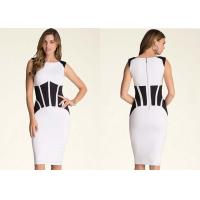 Wholesale Bodycon Back Zip Closure Classy Cocktail Dress Coated Patchwork from china suppliers