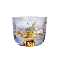 Wholesale Luxury Delicate Personalized Glass Cup Gilded 110ml from china suppliers