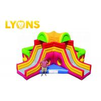 Buy cheap Funny Giant Rainbow Inflatable Bouncer Combo for Children / Castle Bounce House With Two Slides from wholesalers