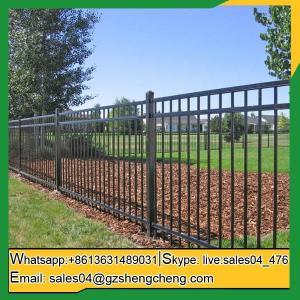 China Carnarvon Zinc tubular steel fence steel tube fence panels on sale