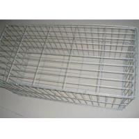 Wholesale Zinc Coated Welded Wire Gabions Baskets , Stone Filled Wire Cages from china suppliers