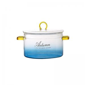 Wholesale 3.5L 5.0L Salad Borosilicate Pyrex Glass Cooking Pots from china suppliers