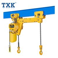 Wholesale 220V Double Hook Electric Chain Hoist With Motorized Trolley For Cargoes Workshop from china suppliers