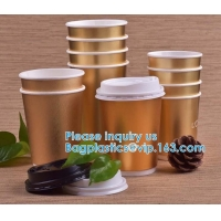 Wholesale Gold Party Cups, Disposable Coffee Cups With Lids - Insulated Hot Cups To Go - Luxury Glitter Paper Cups from china suppliers