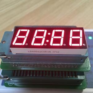 "Buy cheap Super Red Digital Clock Led Display 0.56"" 4 Digit 80-100mcd Lumious Intensity from wholesalers"