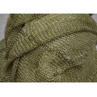 China Space Divider Metal Mesh Drapery , Brass Wire Chainmail Wire Mesh on sale