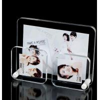 China Black Pretty Clear Acrylic Photo Frame / Wedding Photo Frame Standard Size on sale