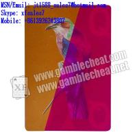 Wholesale XF India Bright Neon No.71 paper UV playing marked cards from china suppliers