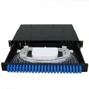 Buy cheap 48 Port ODF Fiber Optic Terminal Box Sc Rack Type Pc Plastic Material from wholesalers