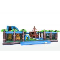 Buy cheap 0.55mm PVC Inflatable Bounce House Playground / Fun City For Kids from wholesalers