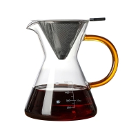 Wholesale Funnel Shaped Lead Free Borosilicate 500ml Coffee Glass Pot from china suppliers