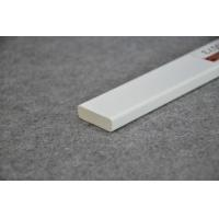 China Crown Molding White Plastic Extrusion Profiles For Interior Decoration on sale