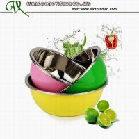 Buy cheap Promotion 3 PCS colorful stainless steel mixing bowls 22cm to 32cm High Quality from wholesalers
