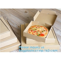 Wholesale 7inch 9inch 10inch 12inch 16inch Handle Pizza Box Custom Printing For Take-Out CORRUGATED BOARD from china suppliers