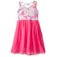 Wholesale Floral Top Little Girl Summer Dresses Size 7 Chiffon Criss Cross Back Dress from china suppliers