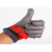 Wholesale SS304 Stainless Steel Safety Gloves , Metal Mesh Gloves For Cutting from china suppliers
