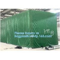 Wholesale CARGOES COVER CANVAS & SUPPLY Canvas Tarpaulin for Roof, Outdoor, Patio. Rain or Sun (Reversible, Silver and Black) from china suppliers